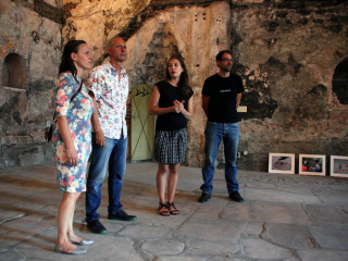 from the left: Margarethe Makovec (< rotor >), Emil Mirazchiev (Art Today Association), Eva Meran (< rotor >), Michael Aschauer (artist)
